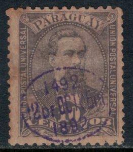 Paraguay #31  CV $5.00  some toning