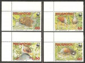 TONGA NIUAFO'OU Sc# 152 - 155 MNH FVF Set4 WWF Birds
