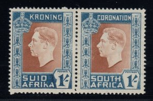 South Africa, SG 75a, MLH Hyphen on Afrikaans Stamp Omitted variety