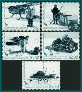 Ross Dependency 2007 Trans-Antarctic Expedition, MNH L99-L103,SG104-SG108