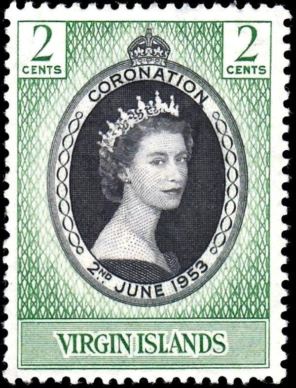 VIRGIN ISLANDS - 1953 - QE II - CORONATION  ISSUE - MINT - MNH SINGLE!