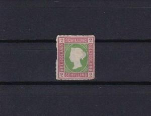 HELIGOLAND 1867 2 sch UNUSED ROULETTE STAMP CAT £65 CONDITION SHOWN REF 6155