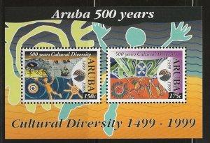 ARUBA  SC #   128 - 9   MNH