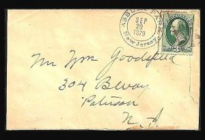 Fancy Cancel Cover ~Striated 8-Point STAR ~Cole #STX-56