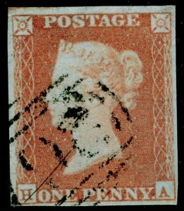 SG9, 1d pale red-brown PLATE 89, USED. Cat £45. HA