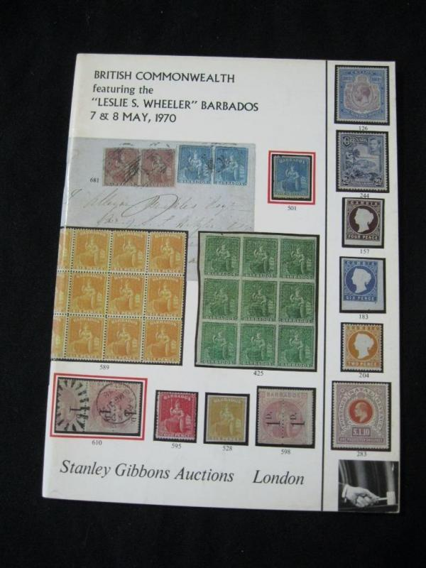 STANLEY GIBBONS AUCTION CATALOGUE 1970 BARBADOS THE 'WHEELER' COLLECTION