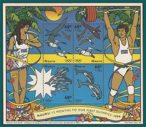 Nauru 1995 Olympic Games MS, MNH B1,SGMS441