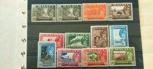 MALAY STATES 1957  PERAK SULTAN & LANDSCAPE FULL SET  IN FINE MINT .(2)