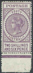 SOUTH AUSTRALIA 1906 QV THICK POSTAGE 2/6 WMK CROWN/A PERF 12.5