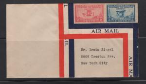 US 1928 Aeronautics Conference Stamps on Sealed Envelope  Scott 649-50 F