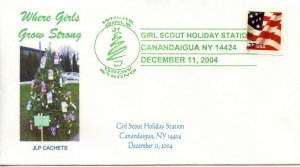 SCOUT CANCEL - GIRL SCOUTS HOLIDAY 14424 ZIP STATION  2004  SC741