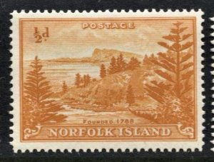 STAMP STATION PERTH Norfolk Island #1 Ball Bay Def. White Paper Reprint MNH