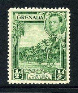 Grenada 1938 KGVI ½d yellow-green perf 12½ SG 153 mint