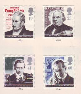 Great Britain Sc 1625-8 1995 Comm Pioneers stamps used