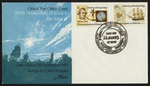 wc004 Australian Antarctic Territory James Cook 200th Anniv. FDC Jan 3 1973