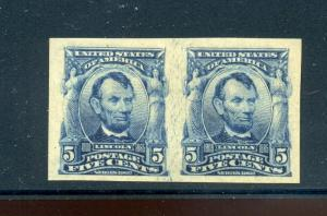 Scott #315 Lincoln Imperf Mint Pair of 2 Stamps (Stock #315-28)