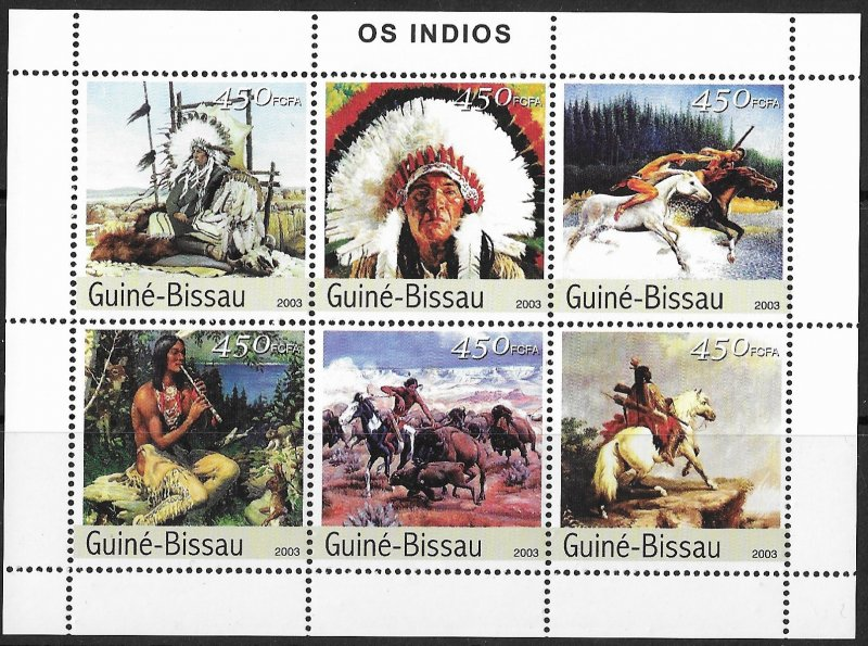 Guinea-Bissau MNH S/S American Indians 2003
