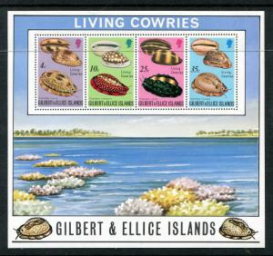 Gilbert & Ellice Islands 244a. Living Cowries and Empty Shells, 1975. x29333