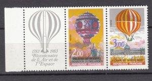 J27669 1983 france set mnh #1864a balloons w/lable