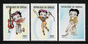 Senegal #1415-7 MNH Set - Betty Boop