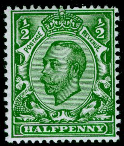 SG344 SPEC N5(3), ½d deep green, NH MINT. Cat £18. WMK ROYAL CYPHER (SIMPLE)
