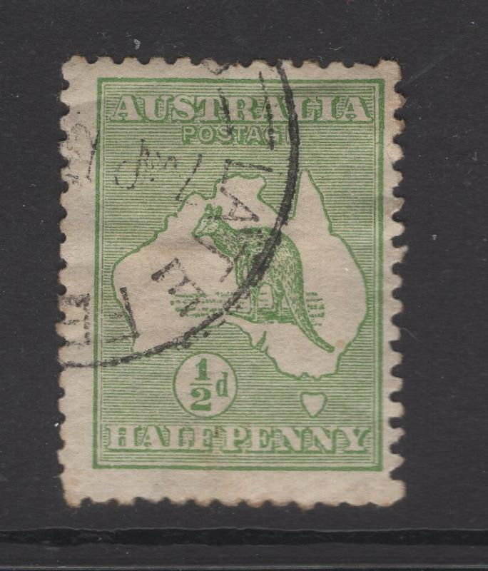 Australia 1913 Stamps ½d Kangaroo & Map Scott 1 F
