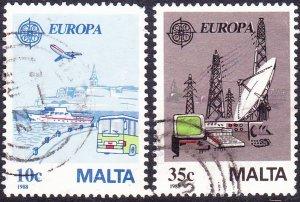 MALTA 1988 10c/35c Transport & Communication Set Multicoloured SG827/828 FU