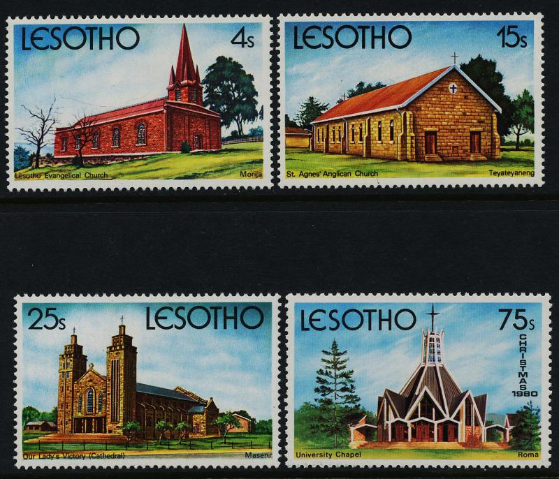 Lesotho 314-7 MNH Christmas, Church, Architecture