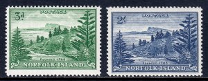 Norfolk Island - Scott #23-24 - MNH - SCV $37