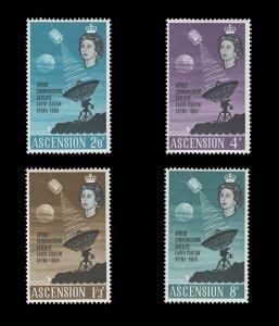 ASCENSION ISLAND 1966. SCOTT # 104 - 107. UNUSED SET.