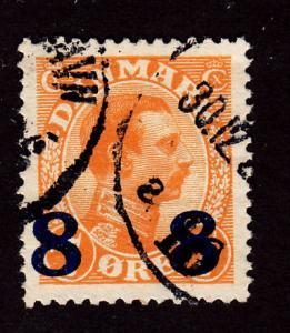 Denmark 161 King Christian X 1922
