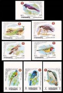 1969 Yemen Kingdom 763-770b Birds 5,00 €
