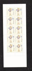 Portugal  #2090a    MNH  1996  booklet professions 10 x 78e  cloth seller