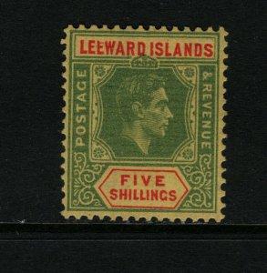Leeward Islands #113 (SG #112ba) Very Fine Mint Broken E Variety **With Cert.**