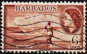 Barbados. 1953 6c S.G.294 Fine Used