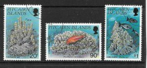 PITCAIRN ISLANDS SG454/6 1994 CORALS FINE USED
