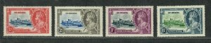St. Helena Sc#111-114 M/LH/VF, Silver Jubilee, Cv. $31.15