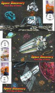 US Collins FDC SC#3238-3242 Space Discovery