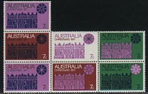 Australia #508 X-Mas sheet of 7 Mint VF NH