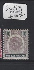 MALAYA  SELANGOR  (PP0906B)  TIGER 50C  SG 59   MOG