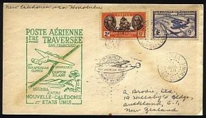 NEW CALEDONIA 1940 first flight cover to San Francisco.......18578
