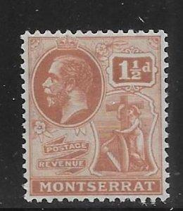 Montserrat 60 1 1/2d KGV single MNH