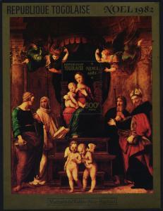 Togo 1149 MNH Art, Christmas, Madonna, Angels