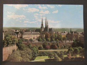 4625 Cartolina Postcard Luxembourg La Cathedrale at l'Athenee used 234