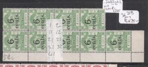 North Borneo SG 55 Plated Block of Nine NGAI (2deh)