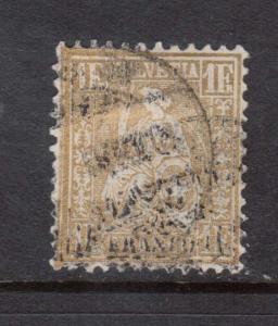 Switzerland #68 VF Used **With Certificate**