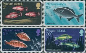 Pitcairn Islands 1970 SG111-114 Fish set FU