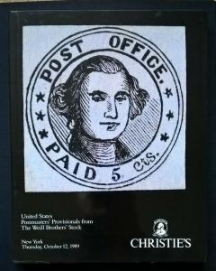 Auction Catalogue UNITED STATES POSTMASTERS' PROVISIONALS Weill Bros. Christie's
