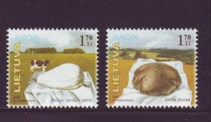 Lithuania Sc790-1 2005 Europa Cow Cheese Bread stamps NH