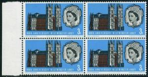Great Britain 452 block/4,MNH.Michel 416. Westminster Abbey,900th Ann.1966.